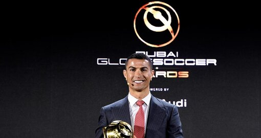 Cristiano Ronaldo crowned 'Player of the Century' at Globe Soccer Awards in Dubai