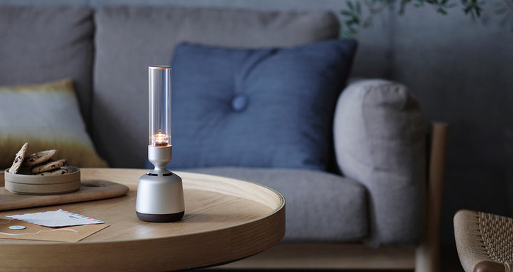 Sony just made a speaker that looks like a flame glass lantern