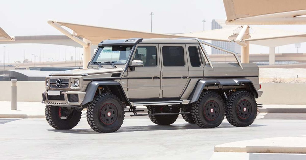 A Six Wheel 500 000 Mercedes Is Up For Auction In Abu Dhabi Esquire Middle East
