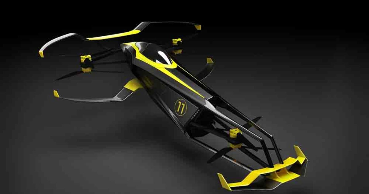 Flying Formula 1? Carcopter is a hydrogen-powered race car for the skies