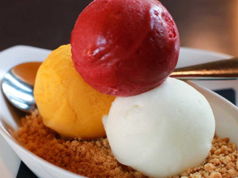Selection of ice cream and sorbet