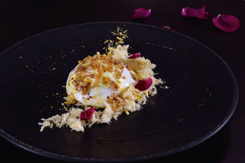 Daulat ki chaat, 24 carat gold dust