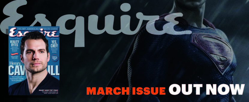 Cavill, Magazine, March 2016, New issue, Superman, Trump