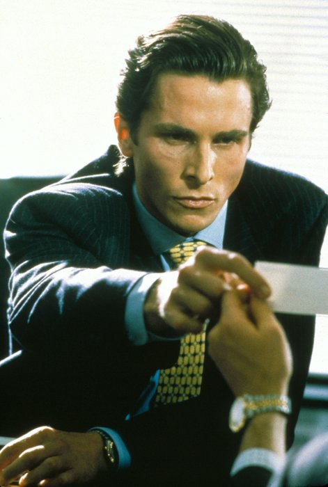 American psycho, Bale, Film, Patrick bateman, Rolex, The Rolex Datejust 16013, Watch