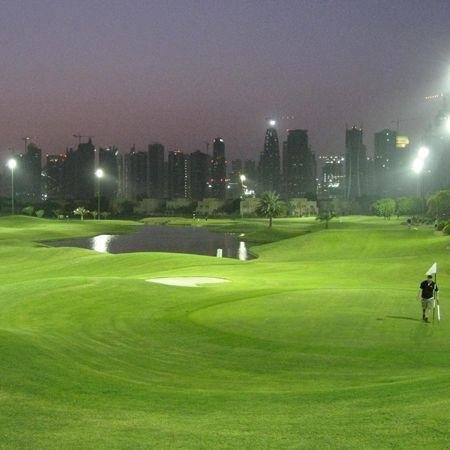 Emirates course, Faldo, Golf