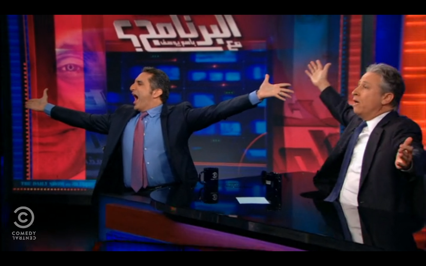 Arab Spring, Bassem Youssef, Commentary, Daily Show, Egypt, Film and TV, Interview, Man At His Best, Middle East, Politics