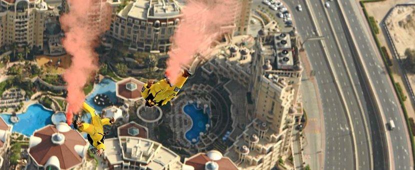 Base Jumping, Burj Khalifa, Dubai, Skydive Dubai, World Record