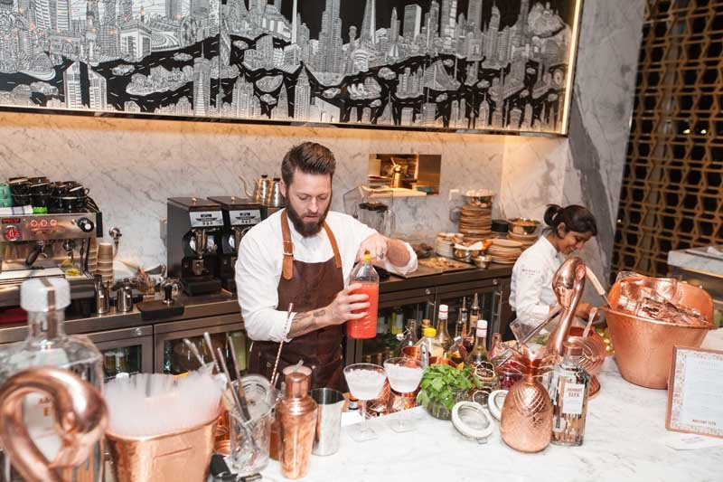 Absolute Elyx cocktails being prepared