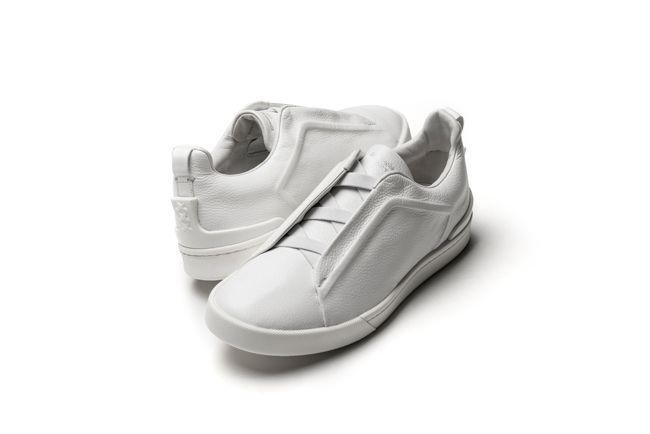 Suede couture slip-on sneakers (Dhs2,200)