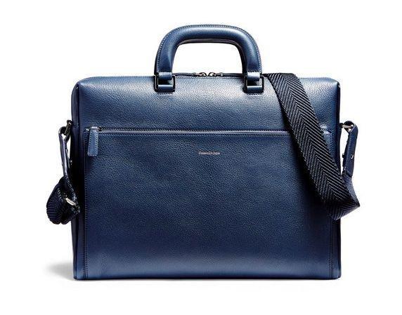 Light blue goat-grained calfskin briefcase (Dhs5,000)