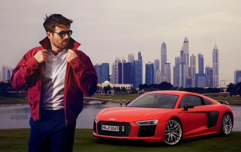 Audi, Audi R8, Esquire shoot, Audi r8 esquire, Audi dubai, Audi r8 dubai