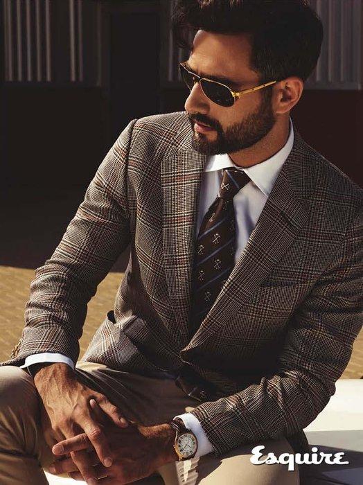 Drive de Cartier watch, Dhs68,000, Cartier; Santos Dumont de Cartier sunglasses Dhs3,700; blazer, Dhs6,255, shirt, Dhs910, trousers, Dhs1,145, and tie, Dhs555, all dunhill.