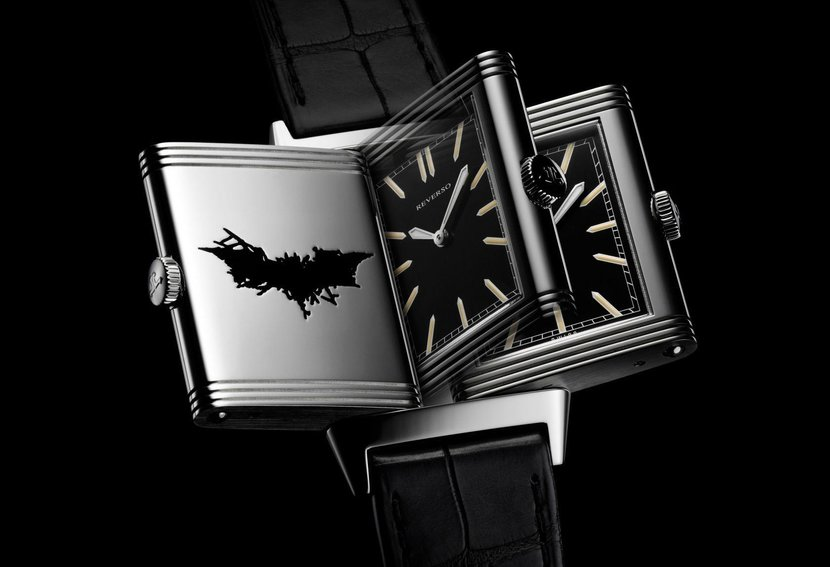 Batman watch, Batman JLC, Batman Jaeger LeCoultre, Watches on film, Batman reverso, Jaeger LeCoultre Reverso batman