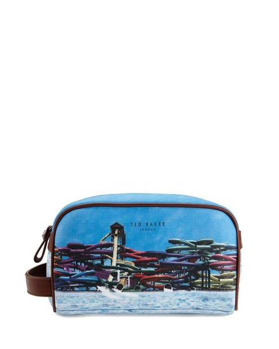 Ted Baker pouch - If you're whisking the missus away this summer, make sure your grooming kit has game (Dhs295)