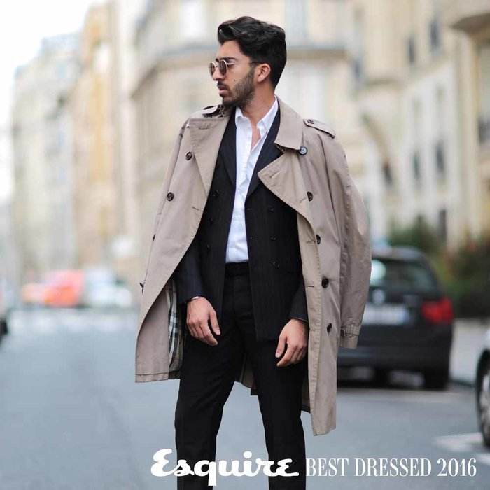 Coat, Burberry; suit, The Kooples; shoes, Stubbs & Wootton. Shot by personal photographer in Paris
