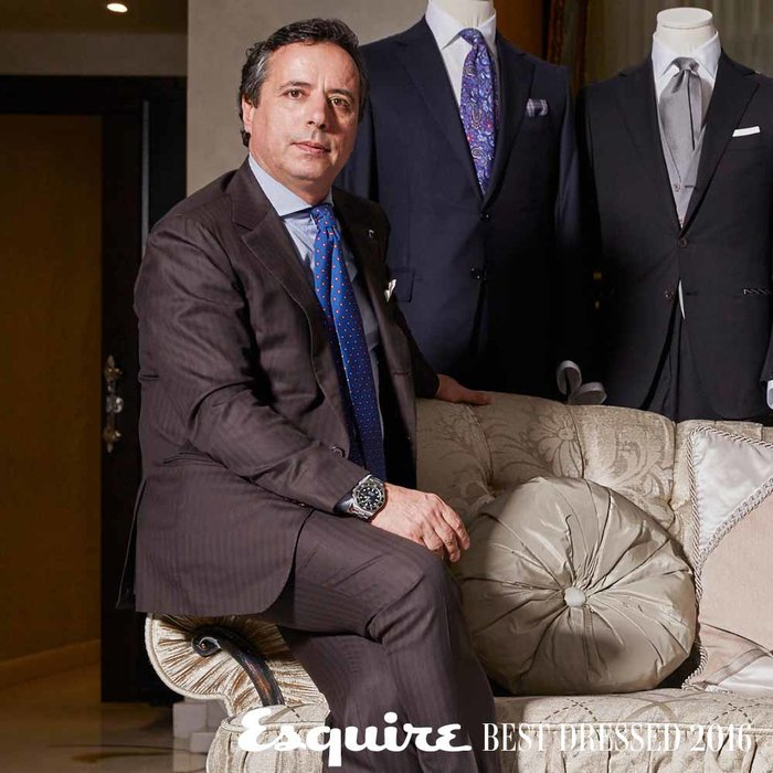Bespoke suit, La Villa. Shot by Richard Hall at La Villa