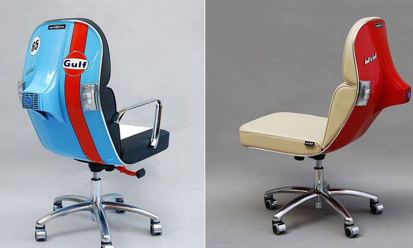 Vintage Vespas, Vespa chairs, Bel&bel vespa chairs, Cool vintage chairs