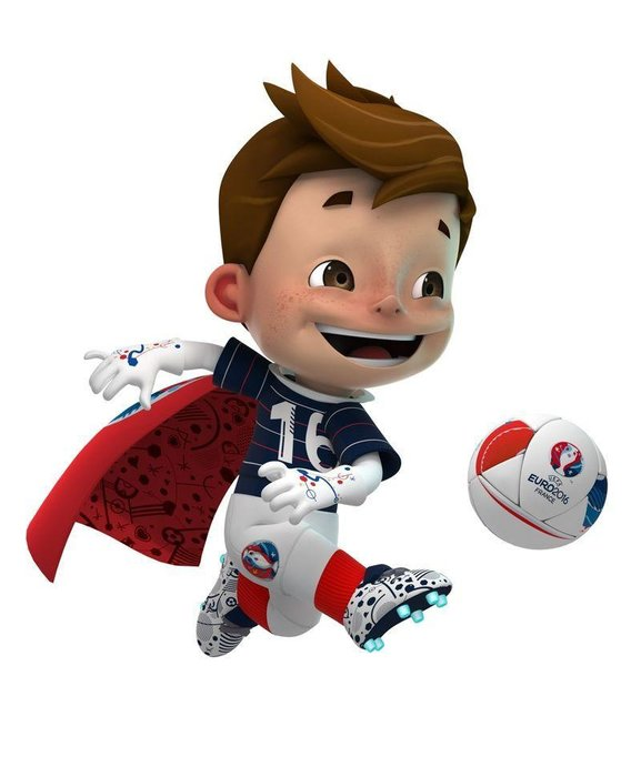 Super Victor (France 2016) - We know that it is our job to shed light on the backgrounds of mascots from Euros gone by, but frankly we're stumped as to why a cape-wearing astronaut was picked to represent this summer's tournament. His name was selected by public vote, which thankfully avoided opting for the proposed 'Driblou'.