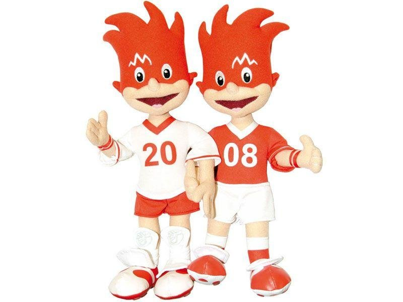 Trix and Flix (Austria/Switzerland 2008) - We can only assume that the organisers of the Austro-Swiss European championship were fans of The X Factor berks Jedward. Granted, the Irish twins wouldn't find fame until the following year, but there can be no other logical explanation for this horrendous attempt at a football mascot.