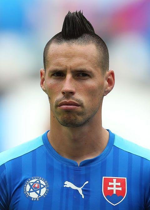 Marek Hamšík  (Slovakia)  -  It's like he missed a section and everyone is too scared to tell him so.