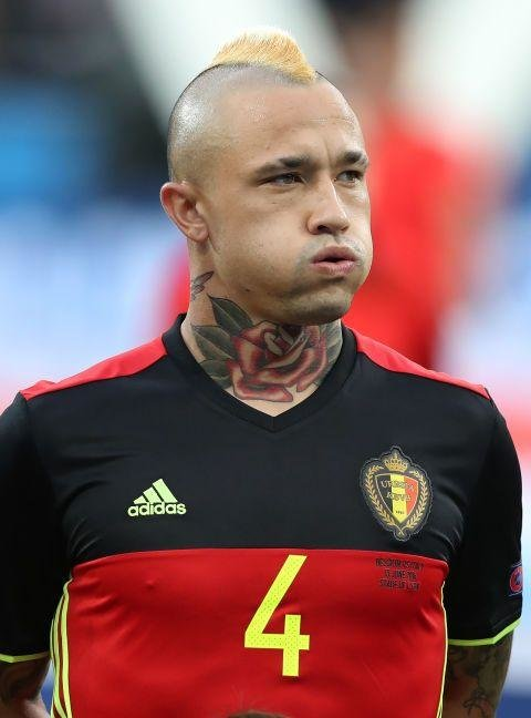 Radja Nainggolan  (Belgium)  -  Another subscriber to the school of the shit mohawk. Well, anything to distract people from the horrendous tattoo of a rose on his neck, we suppose.