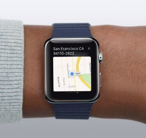 3.Provide you with endless maps: Enter in your destination and the maps app guide you to your destination.  If you need a quick break, you can even download the AroundMe app on your Apple Watch to find your nearest coffee shop.