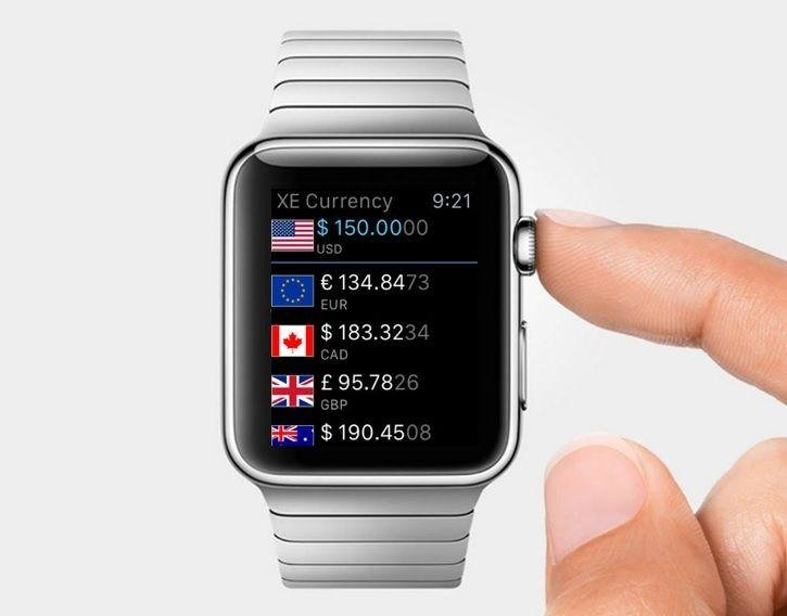 10. Manage your budget: The Apple Watch can keep your finances on track while doing your shopping by downloading XE Currency to manage your holiday budget and avoid getting a nasty surprise when the bank statement comes through.