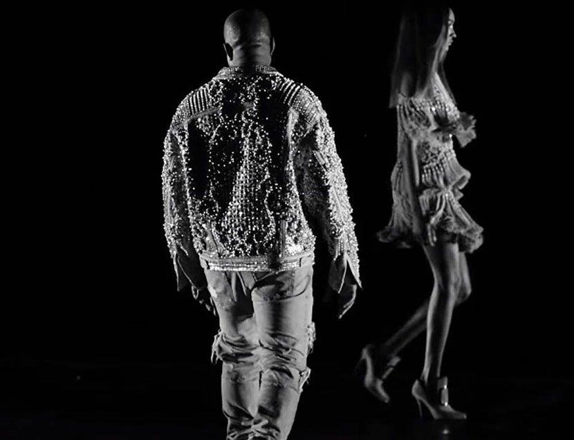 Kanye West, Wolves, Music Video, Kim Kardashian, Balmain, Kanye West balmain video, Kanye Balmain, Balmain wolves