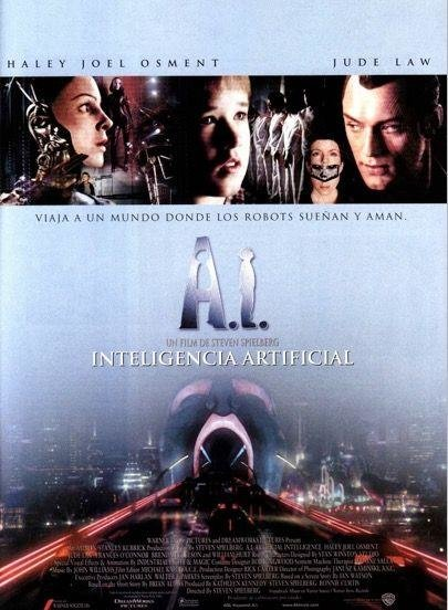 AI ARTIFICIAL INTELLIGENCE (2001)  -  Yes, humanoids have feelings, too, but with the flashes of genius you'd expect from a Spielberg-Kubrick mash-up, the former taking over after the latter's years of toil.