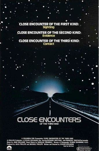 CLOSE ENCOUNTERS OF THE THIRD KIND (1977)  -  His aliens-are-coming epic, sci-fi with real heart, is aging like fine wine. If you're going to be a nerd about it, watch the Collector's Edition version (fat trimmed; better ending).
