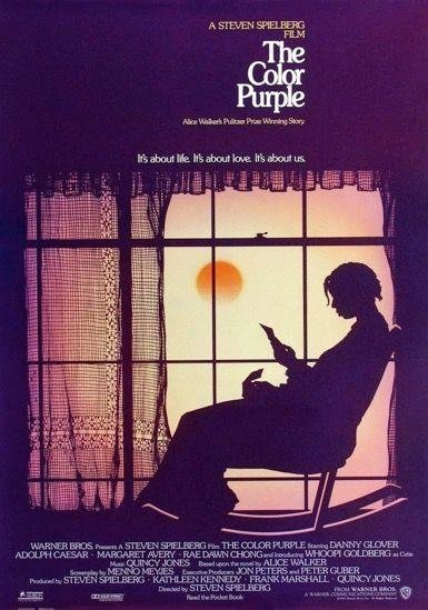 """THE COLOUR PURPLE (1985)  -  The director's first """"serious"""" movie dealt with incest, rape and the female African-American experience, and got Oprah Winfrey a deserved Oscar acting nomination."""