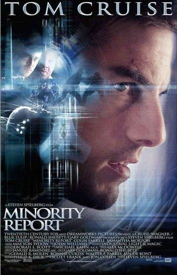 MINORITY REPORT (2002)  -  It says a lot for Spielberg's outstanding CV that a big-budget, commercially successful, sci-fi epic starring Tom Cruise can legitimately appear on a list like this.