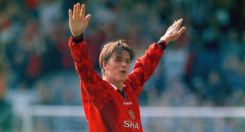 David Beckham, Wimbledon Goal, Manchester united, 1996, Posh and Becks, Screamer
