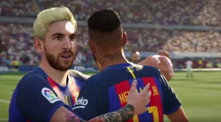 Messi's Hair  -  Just to clarify, Messi's current platinum blonde lid is awful, but the attention to detail from EA when it comes to the players' hair and tattoos (lots and lots of tattoos) is commendable.