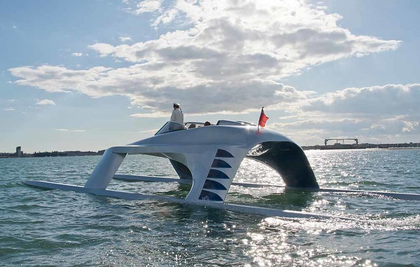 Glider Yacht, Luxury Yacht, Prototype, Yacht of the future, Fast boat
