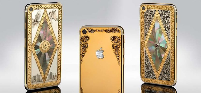 IPhone gold, 24k, IPhone 7, Apple, Expensive phones, Hand-designed, Bespoke phone