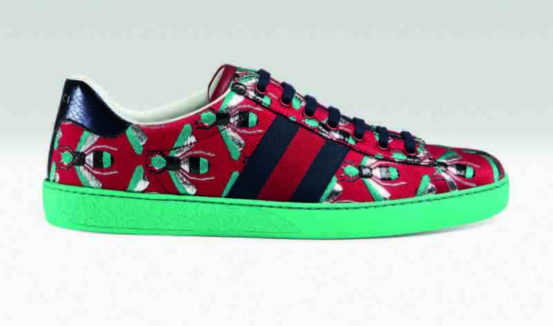 Red and green sneakers, Dhs2,150