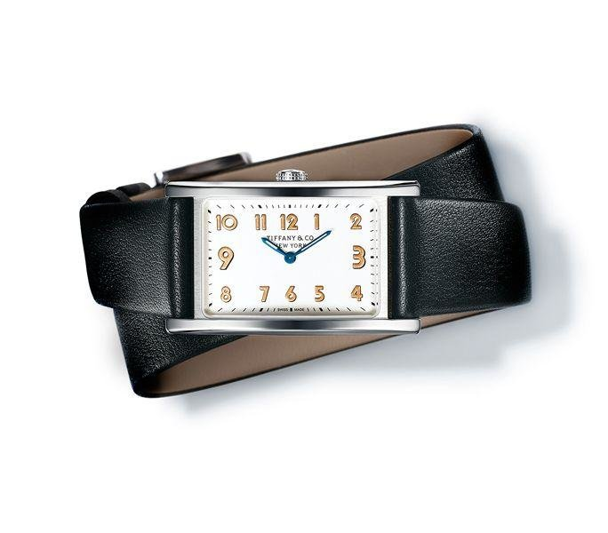 Tiffany & co. EastWest Collection  -  If you prefer a smaller, sleeker wristwatch, look to Tiffany & Co. Inspired by their iconic rectangular purse travel clock from the Forties, this collection comprises three watches whosefaces have been rotated 90° within their 37 x 22mm stainless steel cases. Available in three colour stylings, our favourite is the white dial with gold poudré numerals.  Dhs13,700.  international.tiffany.com