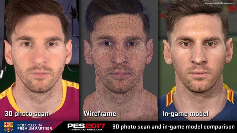 With Barcelona, Dortmund and Liverpool as official partners of the game, Konami were able to do face scans of players. The likeness of Leo Messi (silly hair cut or not) is remarkable.