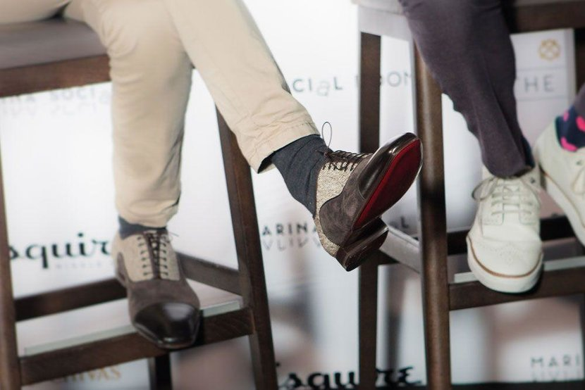 The panel were rocking shoes by Christian Louboutin
