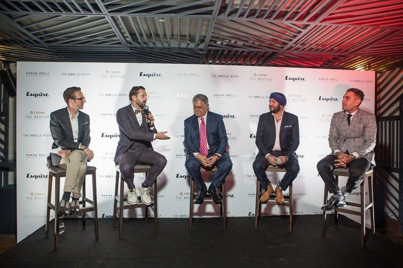 The panel (L-R): Esquire's Jeremy Lawrence, Charles Blaschke, Yogi Mehta, Harmeek Singh
