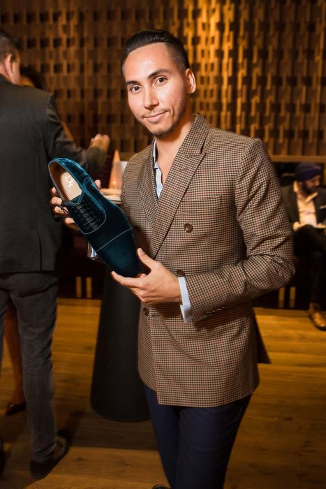 Lucas Raven with his pick of Louboutin Hommes' new collection