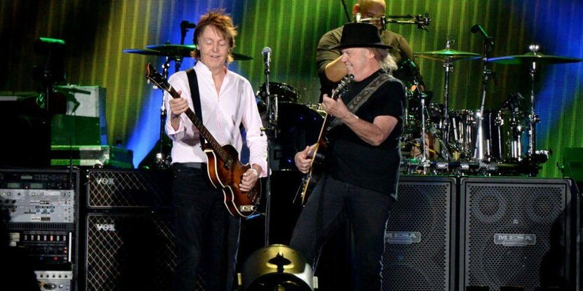 Paul McCartney at Desert Trip with Neil Young