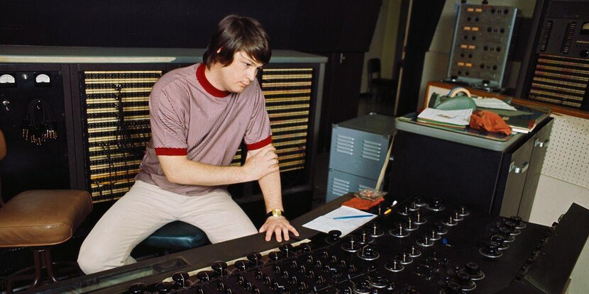 Brian Wilson in the studio making Pet Sounds