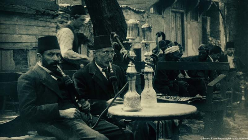 Hookah smokers in Constantinople, circa 1900.