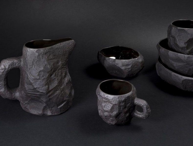 Max Lamb - Crockery Black Basalt