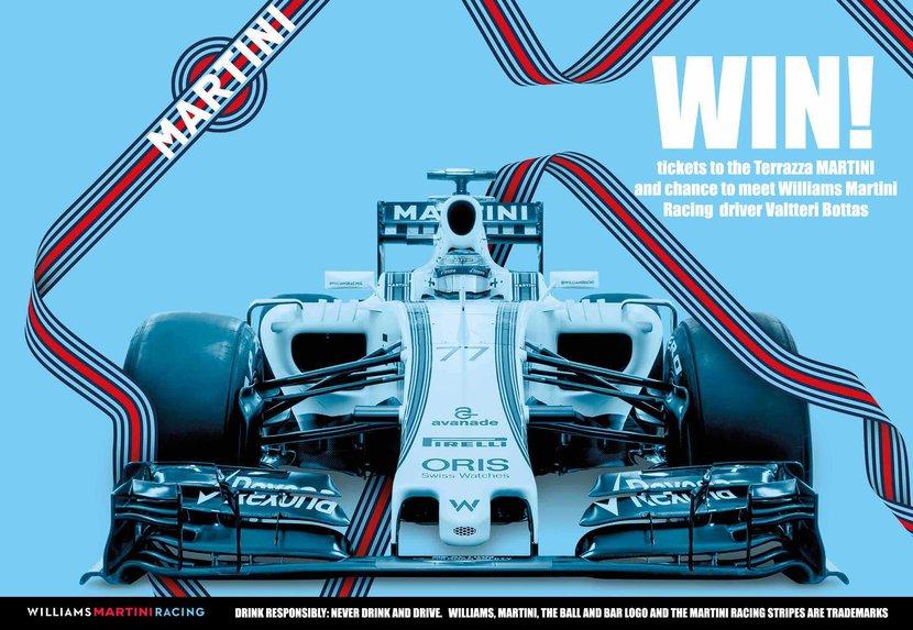 Valtteri Bottas, F1, Martini, Esquire, Abu dhabi, Yas Marina