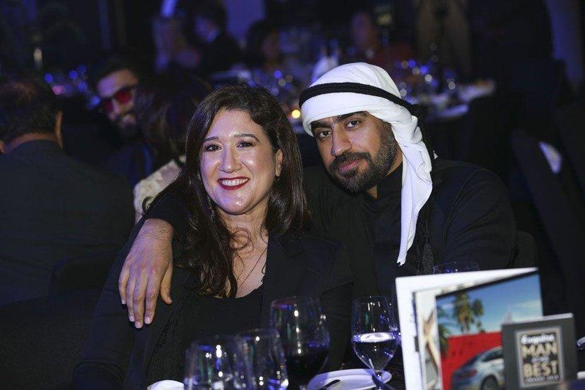 Nez Gebreel and Regional Fashion Designer of the Year, Ahmed Abdelrahman