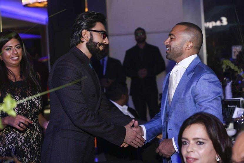 International Man of the Year Ranveer Singh and Managing Director of ITP, Ali Akawi