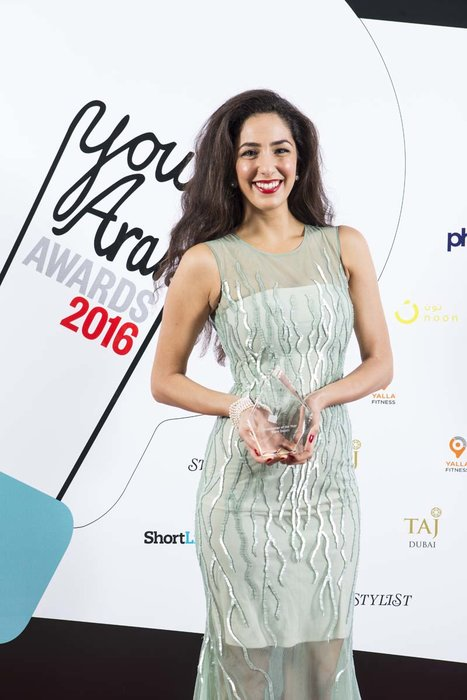 Entertainment Award - Palestinian actress and writer, Dana Dajani